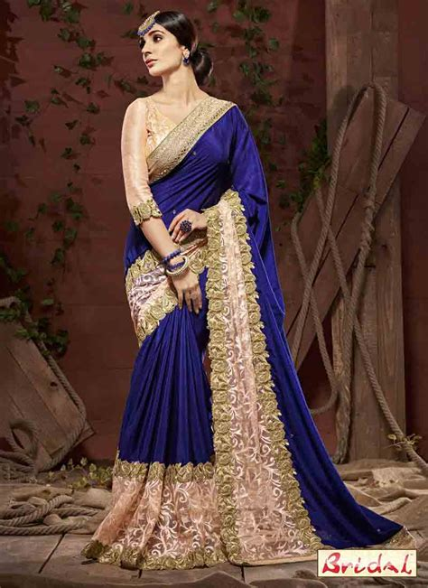 latest bridal wedding and party wear sarees 2017