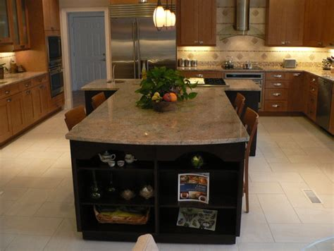 Traditional Kitchens With Islands T Shaped Island