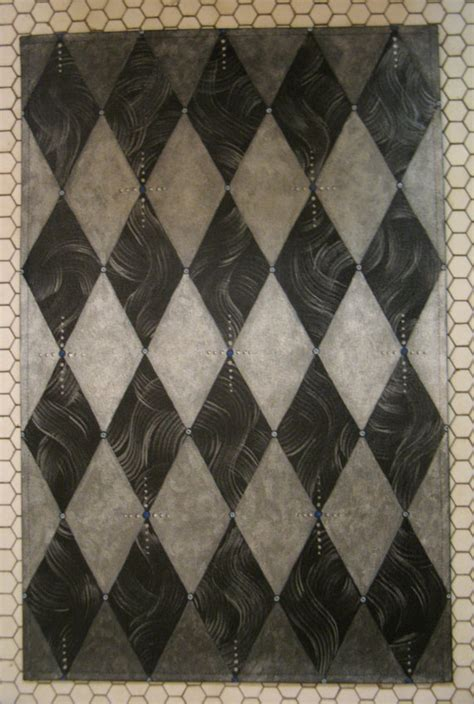 harlequin pattern carpet harlequin rug floorcloth silver and black with marble pattern