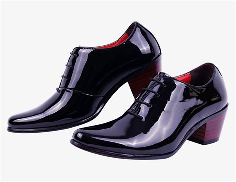 1 96 inch fashion mens high chunky heel casual oxford
