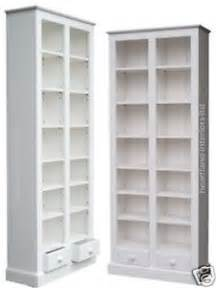 Solid Wood White Bookcase by 100 Solid Wood Bookcase 200cm Tall White Painted Display
