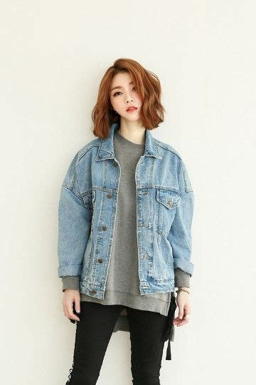 Jacket Korea latte denim jacket korean fashion kfashion