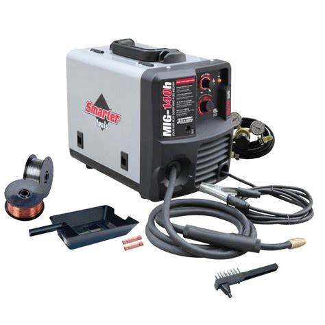 smarter tools 120 volt solid wire and flux cored welder