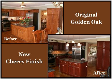 restain kitchen cabinets before and after naperville kitchen cabinet refinishers 630 922 9714