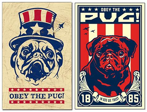 obey the pug pug prints posters paintings pugs dogbreed gifts