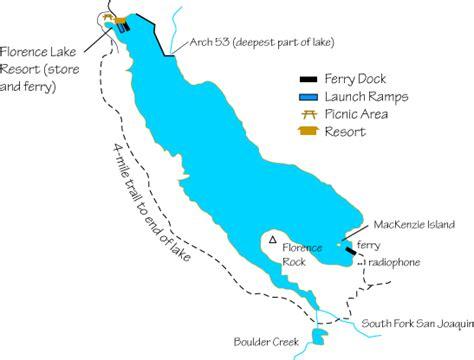 florence california map florence lake fishing
