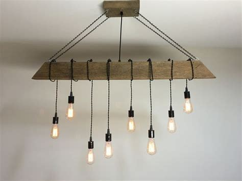 Buy a Custom Reclaimed Barn Beam Light Fixture/Bar