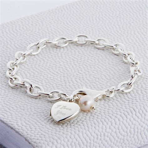bracelets for jewelry personalised sterling silver locket bracelet hurleyburley