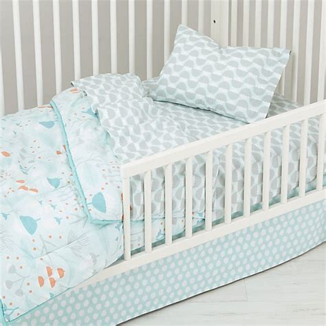 bedding for toddler well nested toddler bedding blue the land of nod