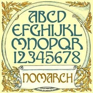 art nouveau lettering sherhaps