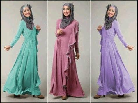 desain gamis muslim terbaru contoh desain baju muslim terbaru di 2015 pipitfashion