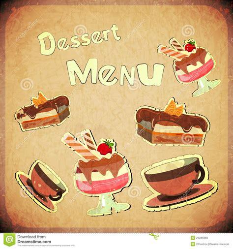 retro photos vintage cover cafe or confectionery dessert menu stock