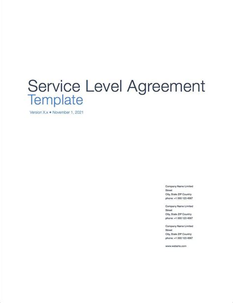 service level template service level agreement sla apple iwork pages numbers