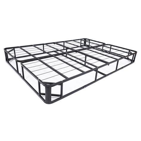 King Size Foundation Only Size Metal Box Mattress Foundation With Cover