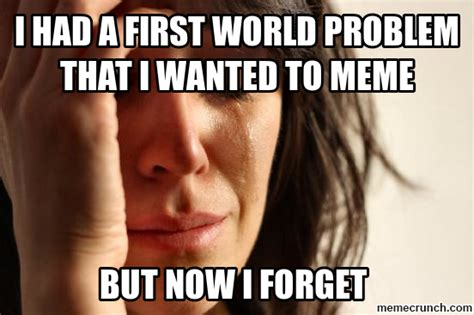 Memes First World Problems - generate a meme using first world problems memes