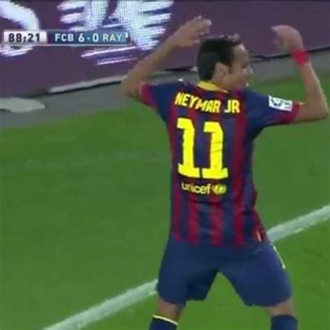 barcelona news goal com video neymar fantastic goal against rayo vallecano fc