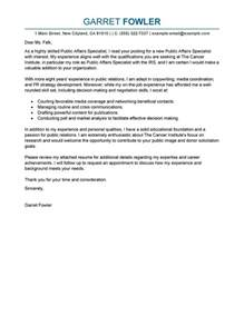 Community Specialist Cover Letter by Best Affairs Specialist Cover Letter Exles Livecareer