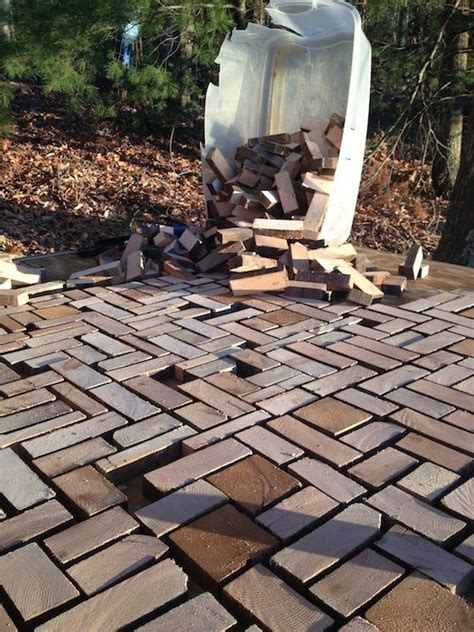 Wood Pavers For Patio Awesome Brick Flooring And Wooden Blocks On Pinterest