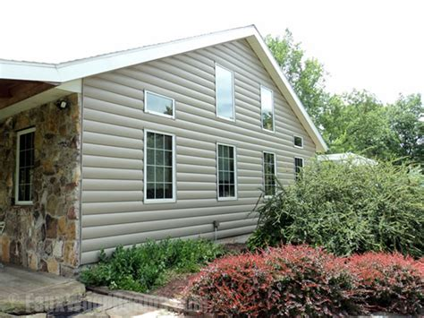 Faux Log Cabin Siding by Faux Log Siding Ideas Home Improvement Pictures To Inspire