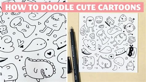how to make doodle name for beginners how to draw doodle characters