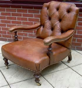 victorian armchairs a victorian leather armchair antiques atlas