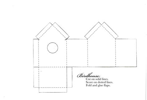 best photos of cardboard birdhouse template free