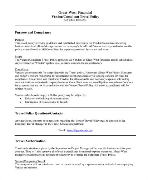 company policy templates company policy template 9 free pdf documents