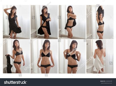 girls undressing in bathroom collage woman undressing hotel bathroom stock photo