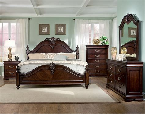 westchester  piece queen bedroom set  brick