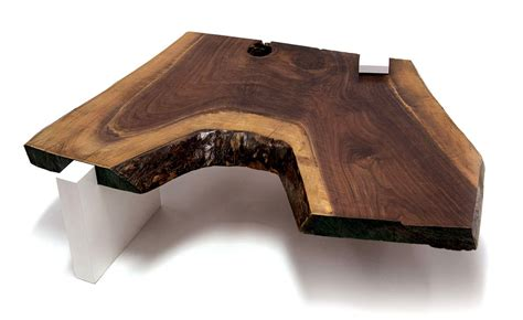 Live Edge Table / Solid American Black Walnut Live Eedge Dining Table ? SENTIENT   Made in Brooklyn