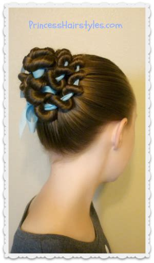 ribbon hairstyles ribbon coiled bun hairstyle tutorial hairstyles for