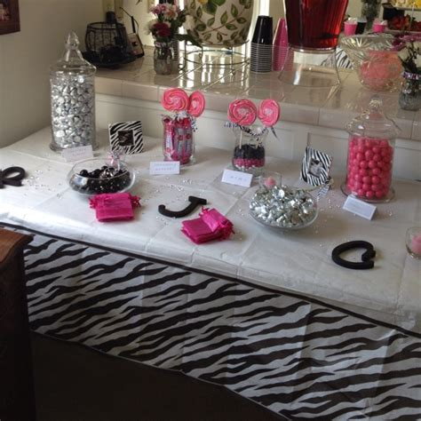 hot pink themes candy buffett at my girlfriends baby shower hot pink