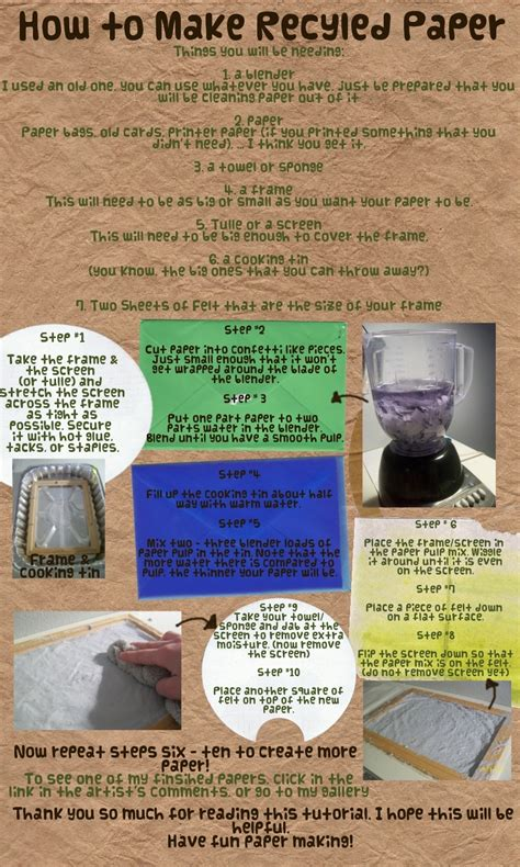 how to make recycled paper by heysugar on deviantart