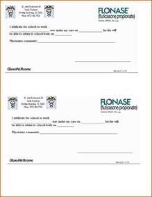 Cv Examples Medical by 11 Printable Doctors Notes For Missing Work Lease Template