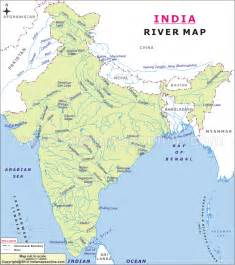 atlas blank map of india with major rivers