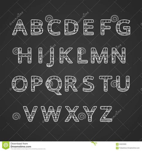 design font ethnic aztec ethnic ornamental font english white and black color