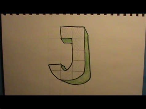 Letter J Drawing by How To Draw The Letter J In 3d
