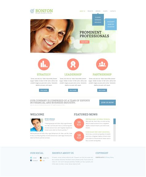 responsive website templates for quiz business responsive website template 39120