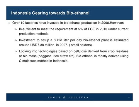 Bio Indonesia indonesia gearing towards bio ethanol nov08