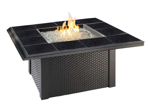 Black Propane Pit Outdoor Greatroom Napa Valley Square Gas Pit Table