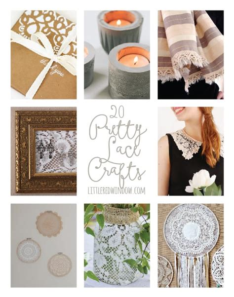 lace crafts projects 20 pretty lace crafts window