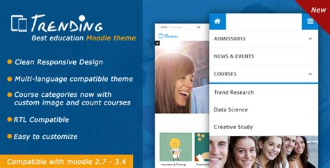 themes moodle nulled trending high quality responsive moodle theme theme88