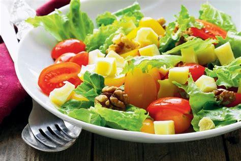 vegetables or salad mixed vegetable salad