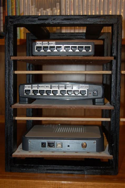 Networking Rack by Home Network Rack By Mnbsr Lumberjocks