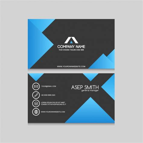 free vector business card templates business card template design vector free