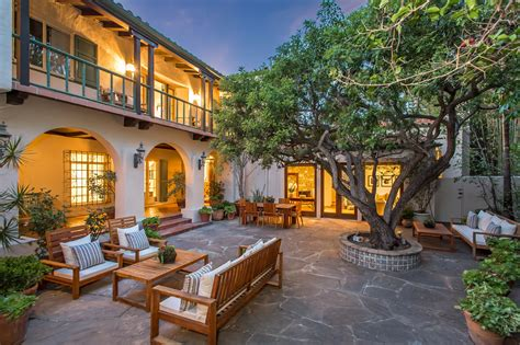 spanish colonial homes central courtyard pool pool marlene dietrich s glamorous spanish style home asks 6 5m