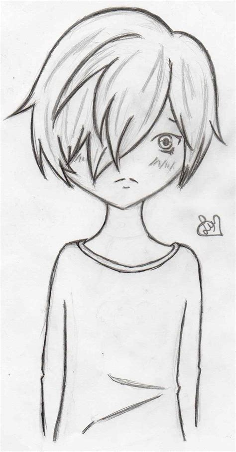 Easy Simple Sad drawing of sketch how to draw pictures anime pencil sad sketch how to draw