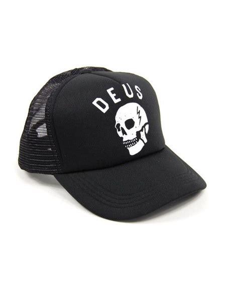 Topi Trucker Deus Ex By Mocincloth deus canggu skull trucker cap black deus ex machina