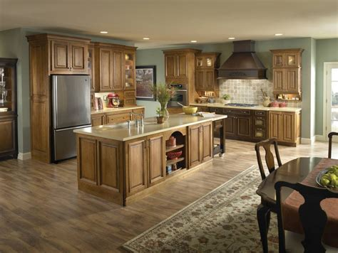 kitchen wall colors with dark wood cabinets dark wood floor with light oak cabinets thefloors co