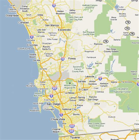 map of san diego ca san diego map my